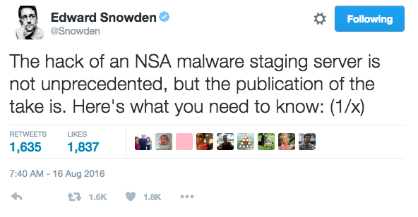 The Shadow Brokers: Lifting the Shadows of the NSA's