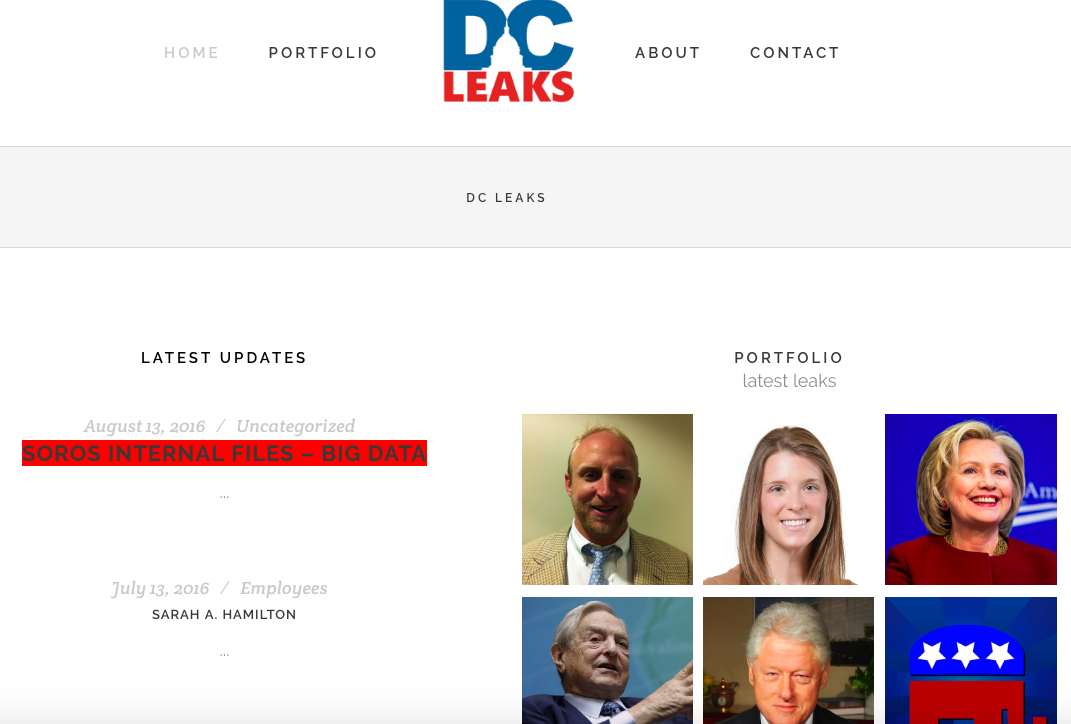 dc leaks little known site dumps data on george soros