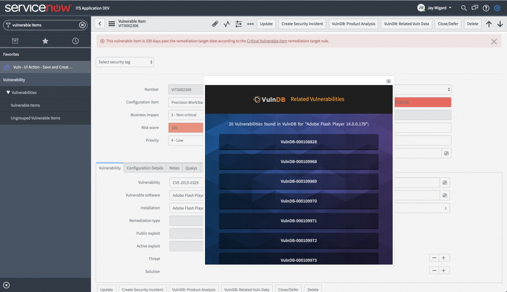 New VulnDB Integration for ServiceNow Enables Better Vulnerability Response